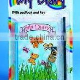 KIDS DIARY BOOK W/LOCKER 1 PENCIL ATTACHED