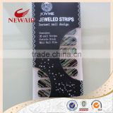 Newest Nail Art Jeweled Strips Shiny Crystal Wraps Decals Nail Foils Patch Tip Tips + 1 nail file + 1 manicure stick