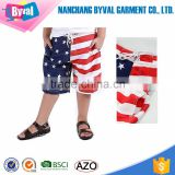 Boys clothing cheap sale polyester dry fit board beach shorts flag printing kids clothings