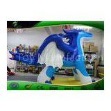 10ft Tall Gaint Inflatable Cartoon Characters Blue Zenith Dragon Toy