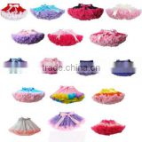0-10Y Girls Kid Tutu Flared Skirt Princess Ballet Dancewear Pettiskirt