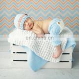 Beautiful Blue and Grey Sleeping Baby Photo Props Crochet Knit Costume Wholesale