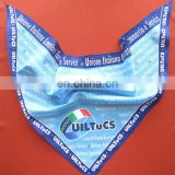 custom printed triangular bandana pet bandana baby bib neckerchief 100% cotton headwear triangle bandana