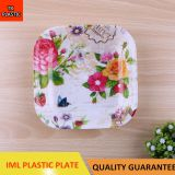 TX203 PLASTIC RECTANGULAR PLATE IML TRAY CHEAP SMALL SALAD BOWL