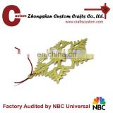 custom metal gold snowflake wholesale christmas ornament suppliers
