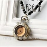 Vintage Design New Artistic Bead Chain Pocket Brass Watch