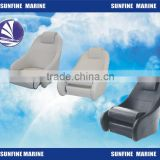 Flip-up Boat Seat Folding Seat Fishing Seat//boat chair Vinyl white with dark blue lace