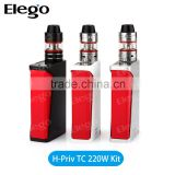 Good price Triangle Design Smok H-PRIV 220W TC Mod Fit for Micro TFV4 Tank Black Silver White Color Smok H-PRIV Kit