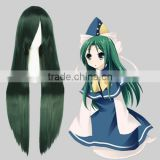 High Quality 100cm Long Green Mixed Wigs Straight Mima Cosplay Hair Wigs Synthetic Anime Wig Party Wig