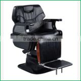 Customized Leather Color Reclined Backrest Durable Structure Barber Chair