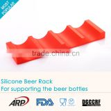 Silicone Wine Racks water Bottle Holders,Food Grage Silicone Beer Rack beer holders beer can holder,BPA free