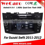 Wecaro WC-SS7669 Android 4.4.4 car stereo 1024 * 600 for suzuki swift car audio player with gps radio gps playstore 2011 2012