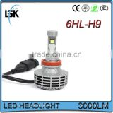 High quality auto headlight led 6 generation h9 with 5 color available led headlight bulb