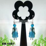 2014 New Fashion Handmade Paris doll earrings