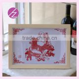 Chinese intangible cultural heritage paper-cut for house decoration and wedding gift Maitreya Buddha pattern JZ-13