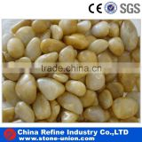 completely beauty yellow high polished pebble stone                                                                                                         Supplier's Choice