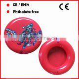 23cm diameter custom Cartoon printing inflatable frisbee toys for kids