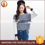 2016 women/ladies Latest design western style spring/autumn sports style wearing long-sleeved t-shirt for lady