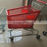 plastic shopping trolley shopping cart coin lock