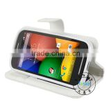 4.3 inch fold cover for motorola moto e XT1021 case with magnet button