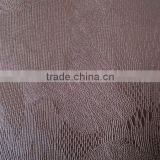 shoe leathr/fake leater for shoe/raw materials for shoe &bags chemical fabric for shoes/embossed leather