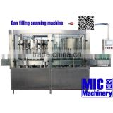 MIC-18-6 with wholelife after-sale service beer canning equipment manual beer canning machine reach 4000 Bph