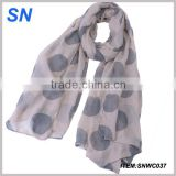 fashion polka dot print beach sarong scarf
