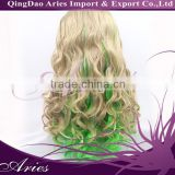 Best Quality highlight color Heat Resistant Fiber / Synthetic Lace Front Wig