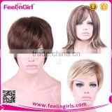 Wholesale Cheap Human Hair Full Half Lace Blonde Wig