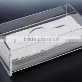 Transparent paper storage Acrylic clear acrylic tissue box holder with Experienced Factory Made