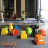 Modern fiberglass club stool table chair customized appartment furniture convention decoration furnishing