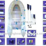 enjoy your jurney>>Blue&grey>>3+1(keel)>>12ft>>4persons>>PVC Infalatable rowing boat