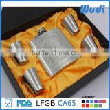 6oz stainless steel alcohol flask with shot glasses set HSET17                                                                         Quality Choice