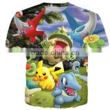 2016 Fashion men women cartoons Pokemon ANIME T Shirts Harajuku Shirts Casual 3D T shirt printing