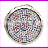 Factory customized rhinestone crystal bling compact mirror