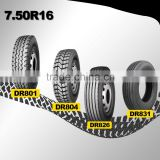 china heavy duty 750r16 bias truck tire
