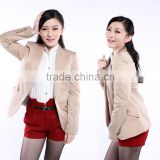 Womens Ladies OL Slim Shoulder Pads Lapel Suit Coat Blazer Casual Jacket OEM Supplier Guangzhou