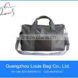 2014 outdoor gray canvas men travel bags leather, women travel bags large capacity,Canvas Duffle Bag