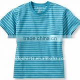 Ladies' fashion short sleeve cotton t shirts yarn dyed