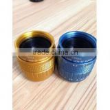 Factory price,high quality,Blue/Gold color New design 35mm lens F1.7 manual iris c mount cctv camera lens