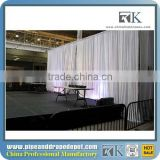 Allstar Elegant Telescopic beautiful pipe drape system organza wedding backdrop curtain