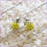 Wholesale With Crystal Ball Stainless Steel Ear Piercing Ring [FC-868]