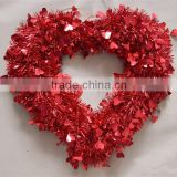 Hot Selling &Best Price 18 Inch PET Tinsel Wreath Of Festival/Party/Wedding Supplies