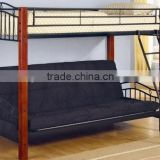 2015 with black color sofa black bunk bed