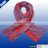 Flat machine girls fashion plain color knitted scarf