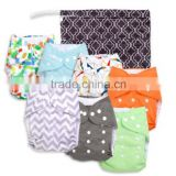 Baby Cloth Diaper Washable Reusable Cover Nappy With Bamboo Inserts                                                                         Quality Choice