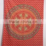 RT-616 Cotton Hand Block Design Mandala Wall Hanging Tapestry Printed bed sheet/ bed cover/bed spread from jaipur