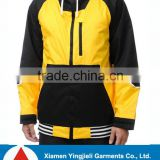 Black and Yellow Outdoor Waterproof and Breathable Ski Jacket Men