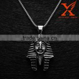 Stainless Steel Jewelry Hip Hop Essential Silver Black Pharaoh King Tut Pendant Big Middle and Small Size Jewelery