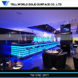 Modern high gloss L shape light bar counter,modern bar counter